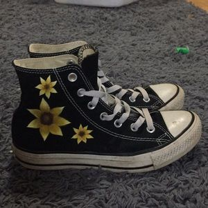 Sunflower high top converse